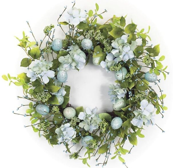 Robins Egg Blue Spring Easter Wreath