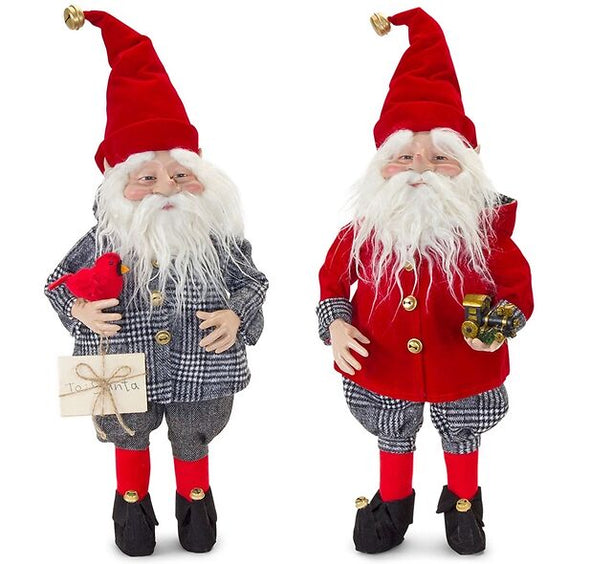 Set Of 2 Santa Elf Helper Figurines