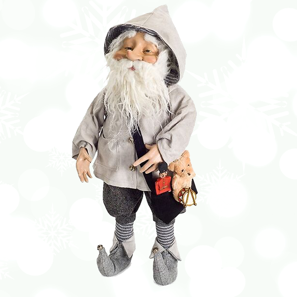 Smiling Yule Man Christmas Figurine - Santa Claus