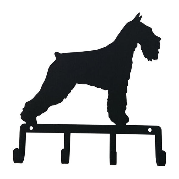 Wrought Iron Decorative Schnauzer Key Holder