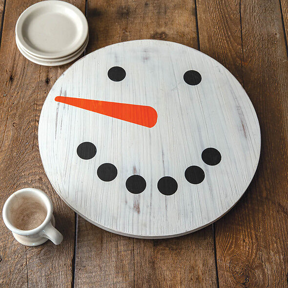 Snowman Lazy Susan - Holiday Centerpiece