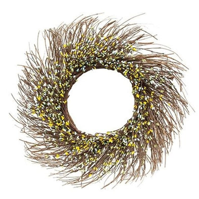 "Spring Mix Pip Twig Wreath, 22"" - Shugar Plums Gift Store"