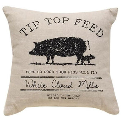 Tip Top Feed Farmhouse Pillow - Set Of 2 - Shugar Plums Gift Store