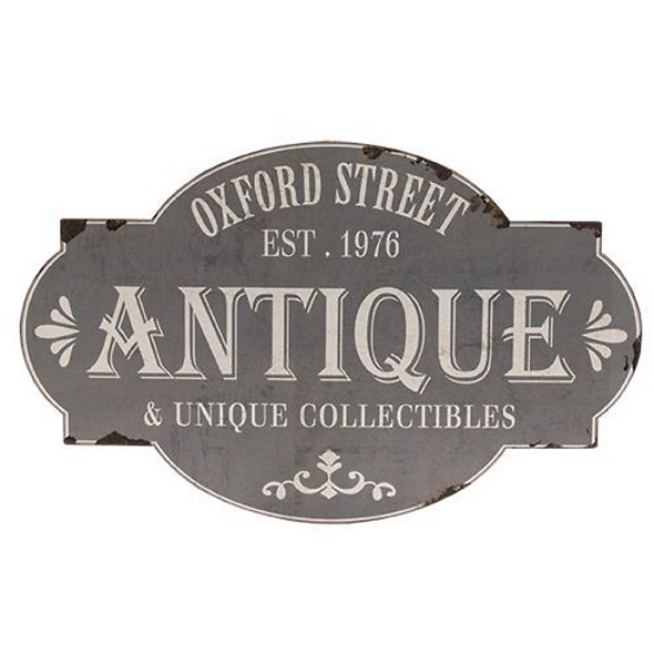 Distressed Oxford Street Antique and Collectibles Wall Art Sign