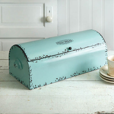 Vintage Farmhouse Fresh Bread Box - Seafoam - Shugar Plums Gift Store