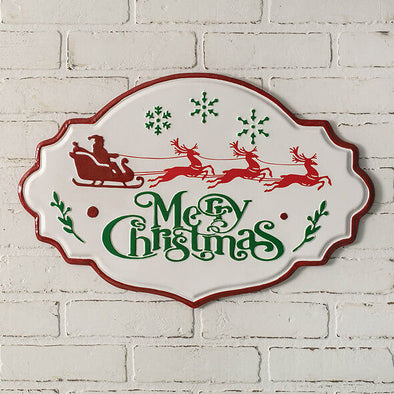 Metal Merry Christmas Wall Sign - Shugar Plums Gift Store