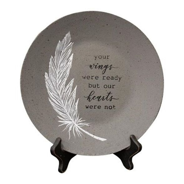 Memorial Keepsake - Your Wings Were Ready Plate