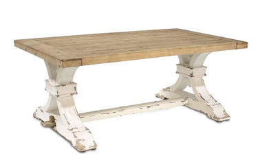 Distressed Wood Farmhouse Coffee Table
