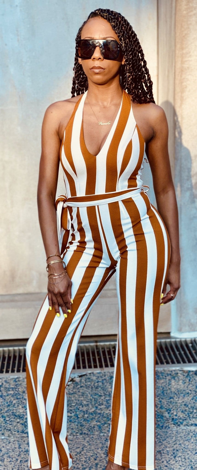 Lexi Striped Jumpsuit
