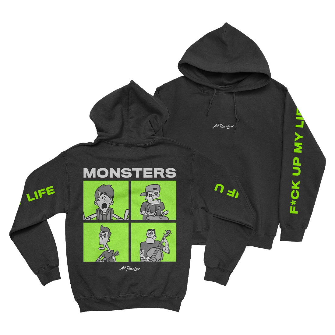 MONSTERS SQUARE HOODIE