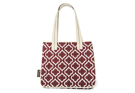 P.L.A.Y. Moroccan Tote Bag Marsala, on white background, SKU: PY9010AUF