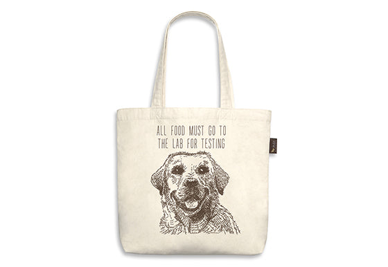 P.L.A.Y. Best in Show Tote - LABRADOR - ALL FOOD MUST GO TO THE LAB FOR TESTING,  SKU: PY9011EMF