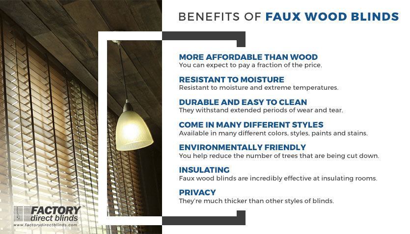 Benefits of Faux Wood Blinds