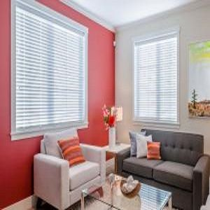 """Cordless 2"""" Classic Faux Wood Blinds"""