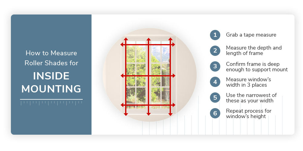 How to Measure for Inside Mount Roller Shades