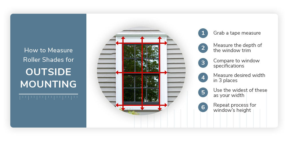 How to Measure for Outside Mount Roller Shades