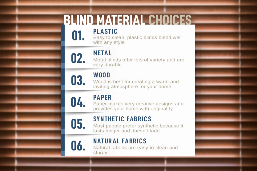 blind material choices graphic