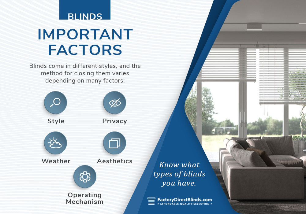 blinds considerations