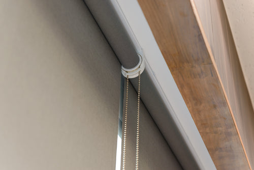 Close up of roller blinds