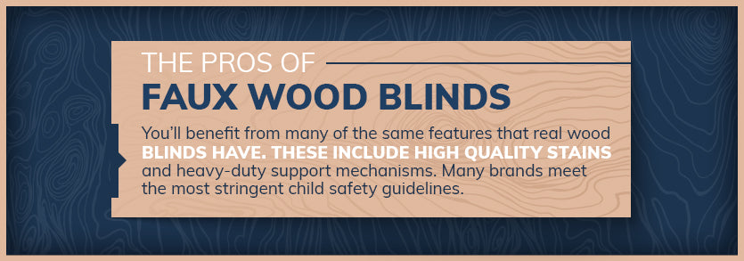 faux wood blinds graphic