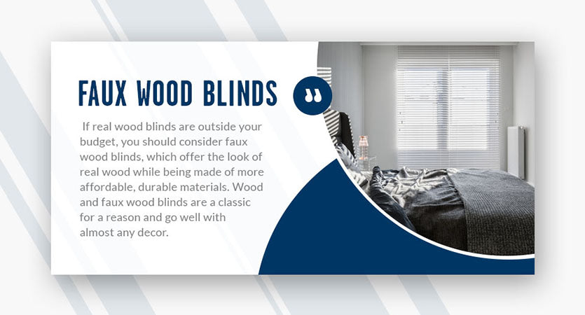 faux wood blinds quote
