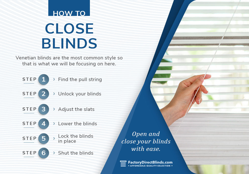 how to close blinds