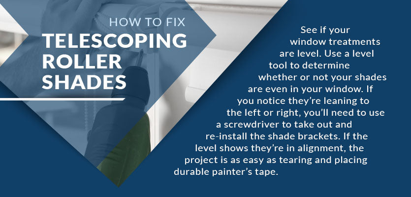 how to fix telescoping roller shades graphic