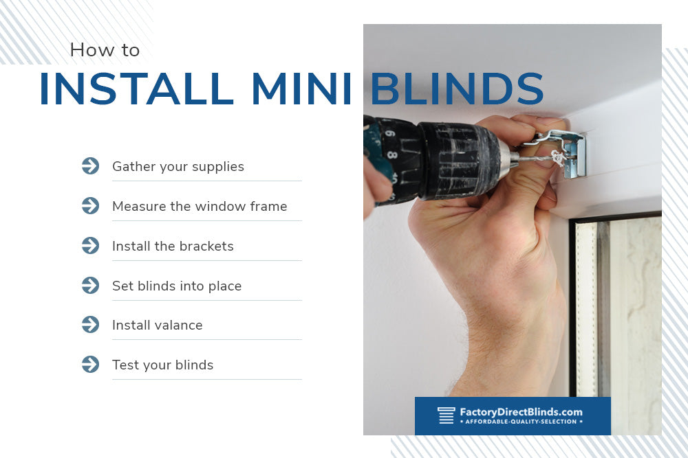 how to install mini blinds