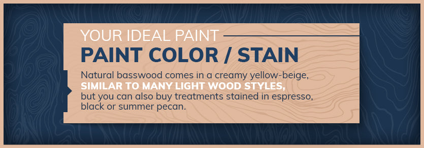 ideal stain or paint color graphic