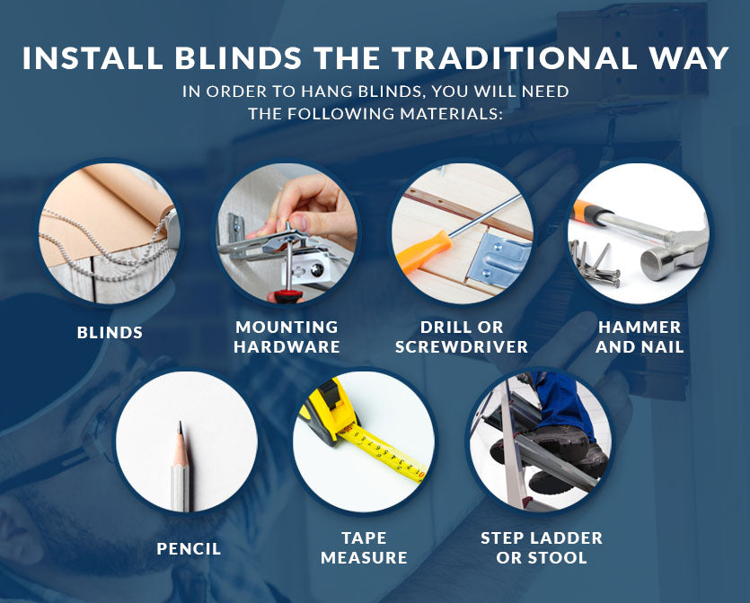install blinds traditional way graphic