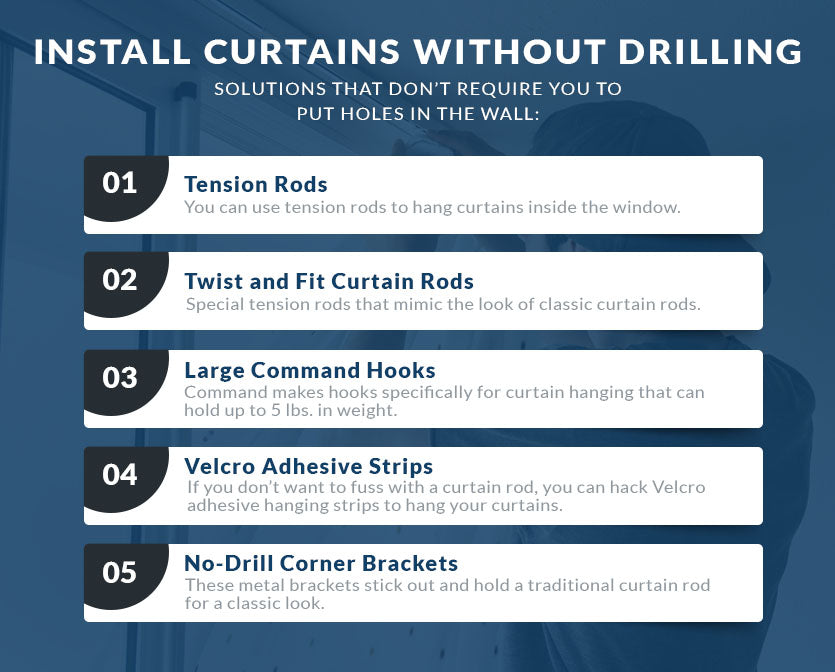 install curtains without drilling graphic