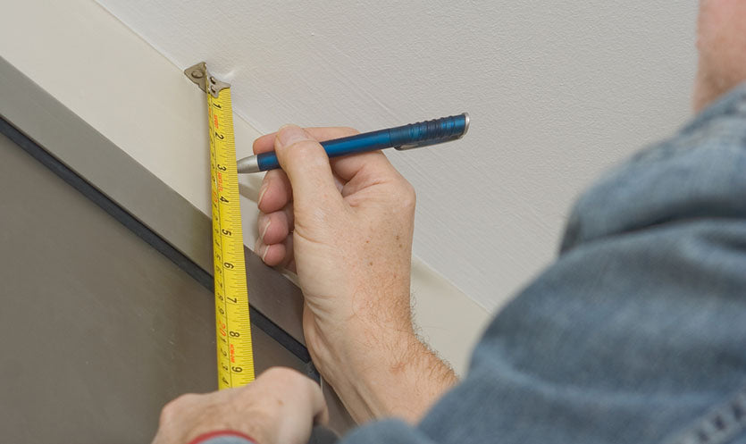 marking blinds using tape measure