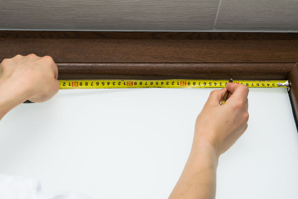 measuring the window frame