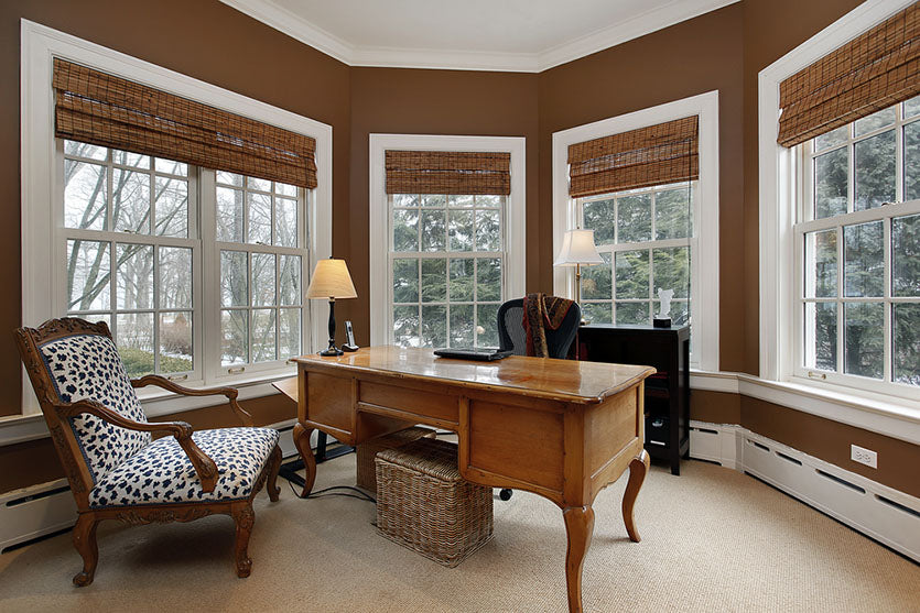 office surrounded by windows
