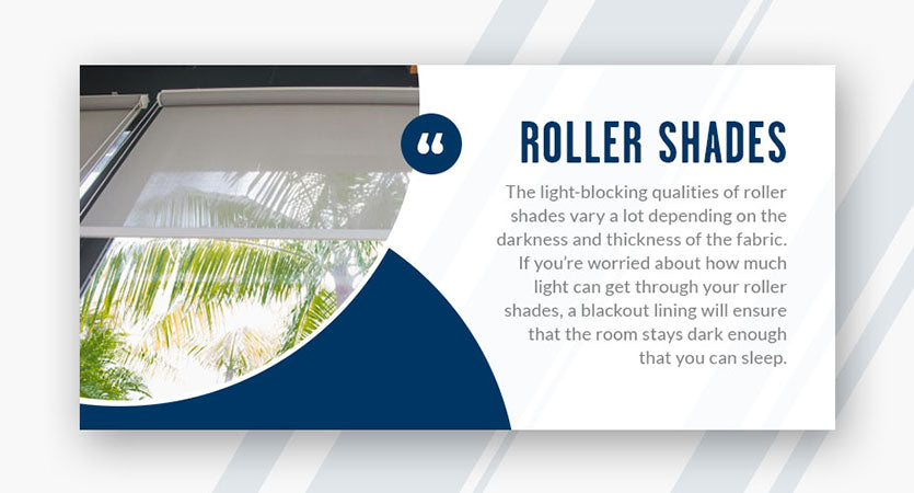 roller shades light blocking quote