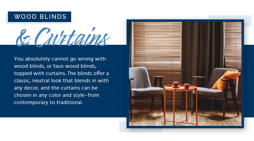 wood blinds and curtains graphic