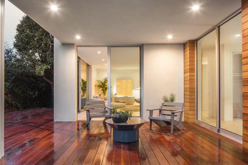 wooden deck with outdoor furniture