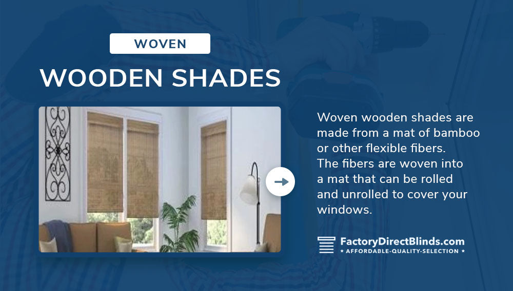 woven wooden shades