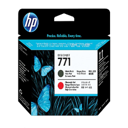 HP 771 -CE017A  matte black, chromatic red - printhead