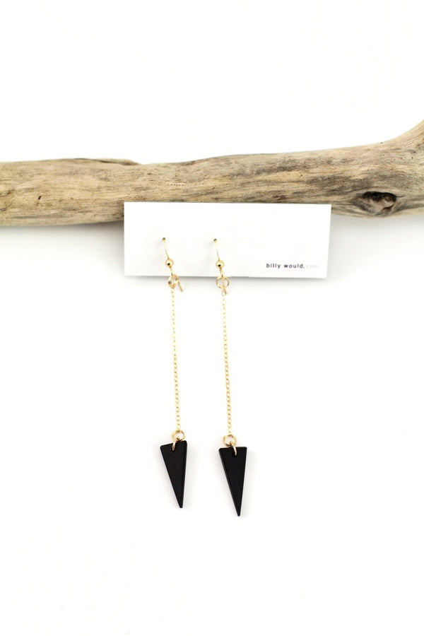Long spike earrings