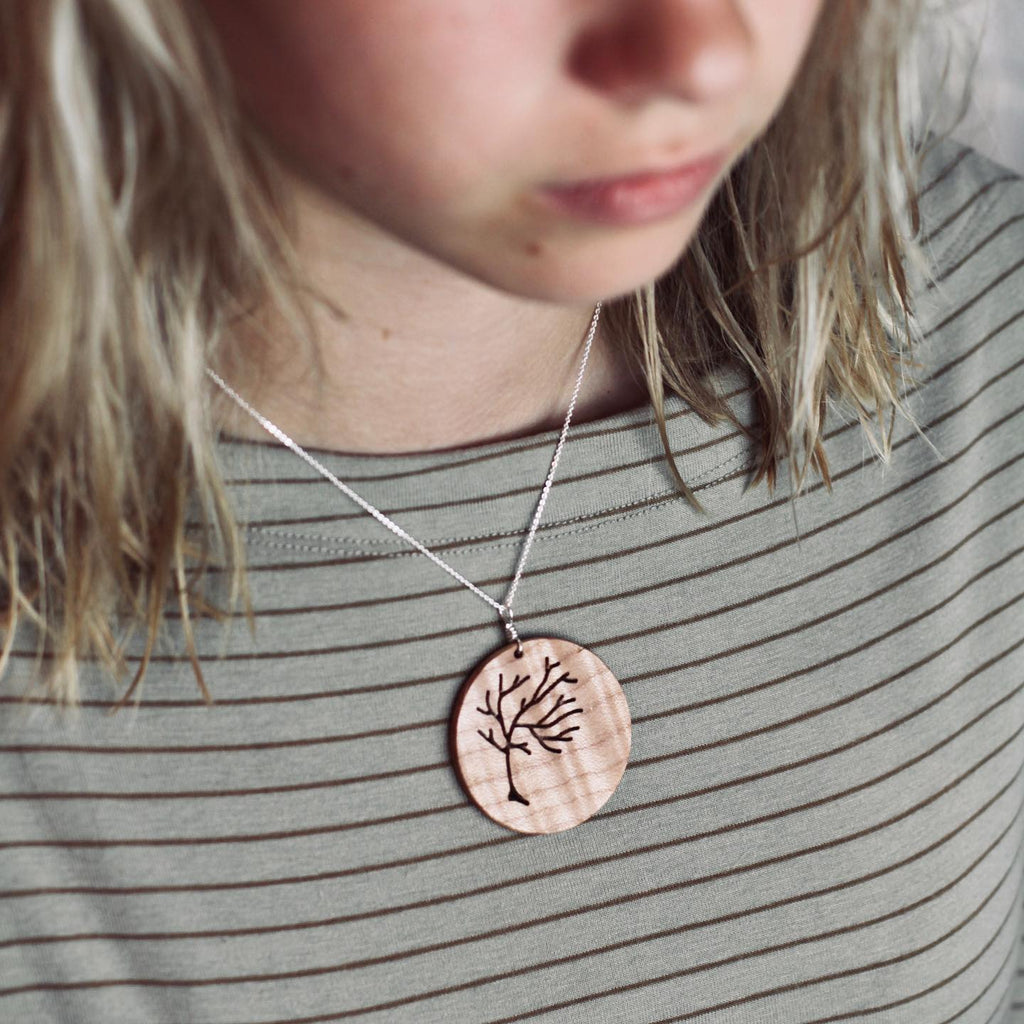 Wood Tree Necklace