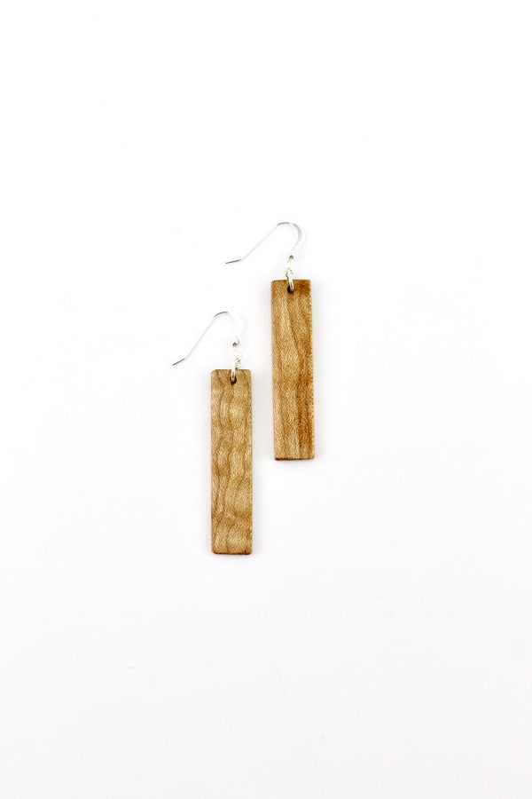 Maple wooden earrings