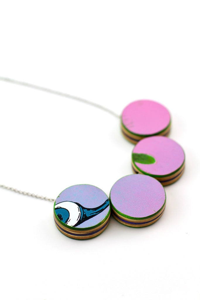 Candy Skateboard statement necklace