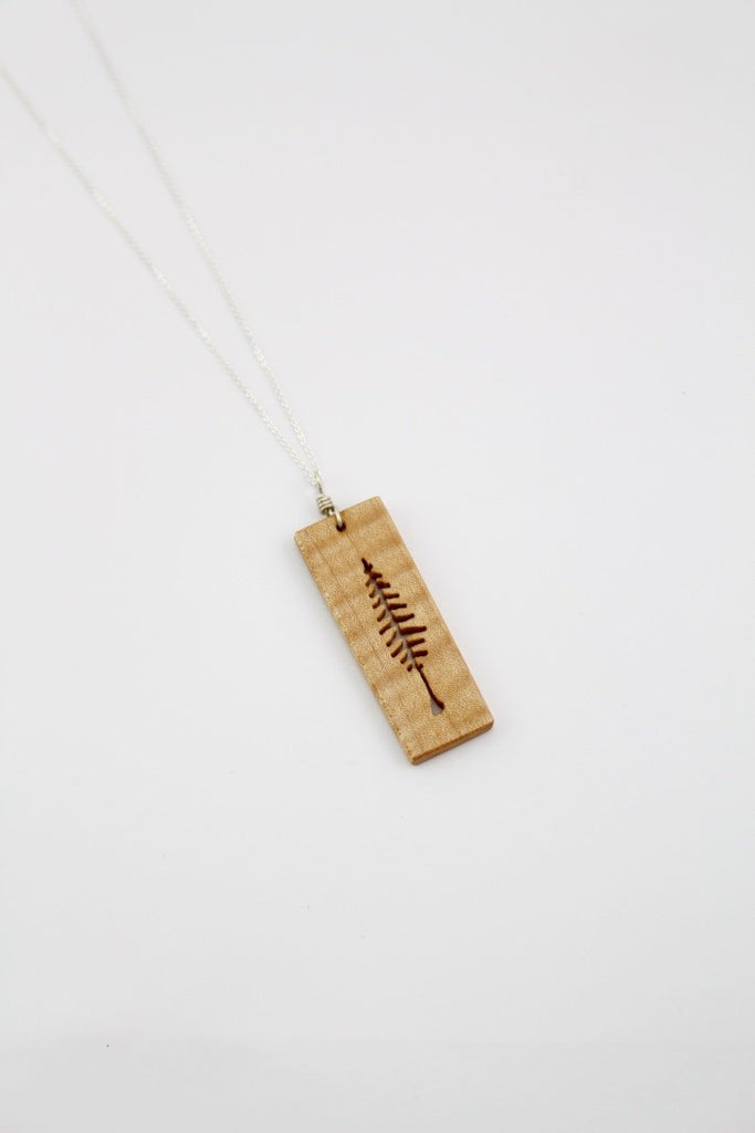 Wood tree pendant