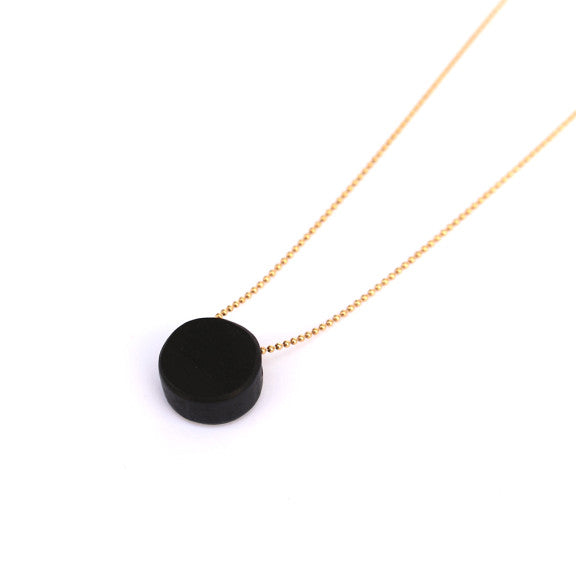 Ebony wood necklace