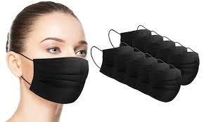 LOOSE BLACK FACE MASK