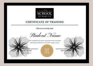 Printed hard copy - Online Course Certificate