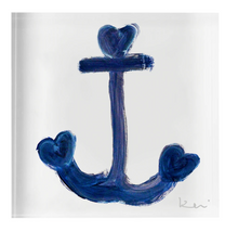 Load image into Gallery viewer, Anchor Indigo Block of Love