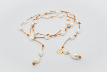 Load image into Gallery viewer, Lariat Classic Pearl Necklace