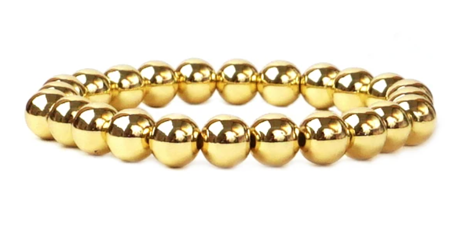 8 mm Metal Beaded Bracelet